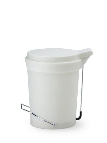 Authentics Tip 1086828 Poubelle avec couvercle et pédale (7 L 29,5 cm de haut 22 cm de diamètre-) Blanc