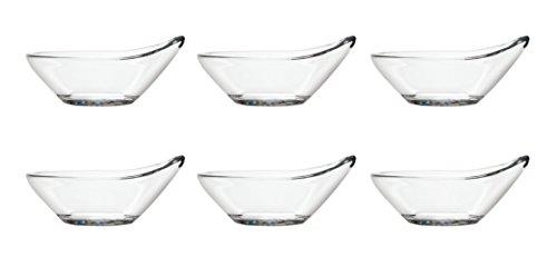 Pasabahce 53942 Gastroboutique - 6er Set Mini-Schüssel aus Glas in Tropfenform (9,7 cm), Glas-Schälchen, Dipschale, Dessertschale, Mezeschale, Tapasschale, 6 Stück