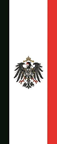 Haute Qualité pour U24 Drapeau du Kaiser Eich avec aigle en format portrait 80 x 200 cm