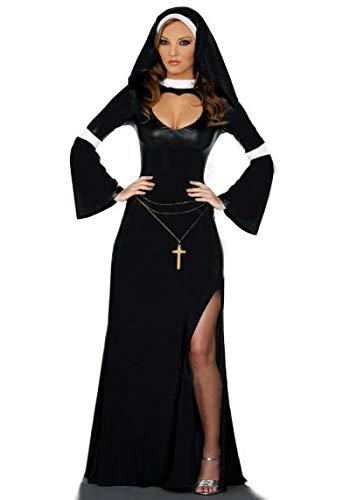 Kostüm Katholische - HalloweenAraber Kostüm Schwarz Katholischer Mönch Cosplay Kleid Halloween Kostüm Nonne Kostüm