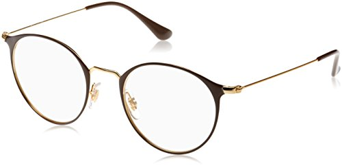Ray-Ban Unisex-Erwachsene Brillengestell 0rx 6378 2905 49, (Gold/Shiny Brown)