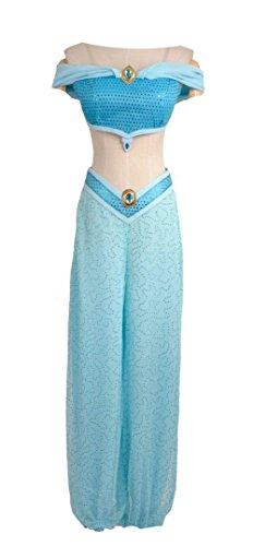 Anime Film Aladdin, Lampe vonDie Tausend und Einer Nacht Prinzessin Jasmin Organza Cosplay Kostüm für ()