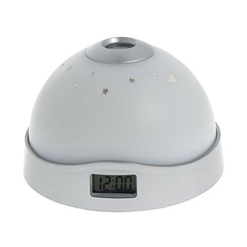 Smartfox LED Uhr Digitalwecker mit Farbwechsel Sternenhimmel Projektor Nachtlicht Kinderwecker Projektionswecker Projektionsuhr