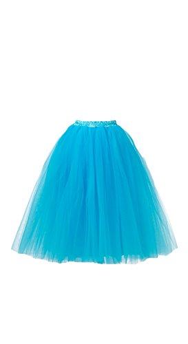 Honeystore-Damens-Lang-Ballet-Petticoat-Abschlussball-Party-Zubehr-Tutu-Unterkleid-Rock