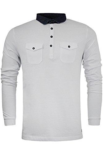 Brave Soul -  Polo  - Camicia - Basic - Classico  - Maniche lunghe  - Uomo White