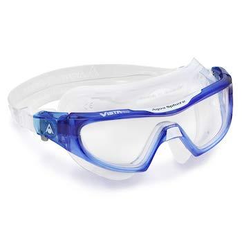 Aqua Sphere Unisex- Erwachsene Vistor Pro Schwimmmaske, Klare Gläser-Blau/Weiß, One Size