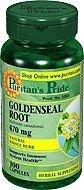 Goldenseal Root 100 Capsules
