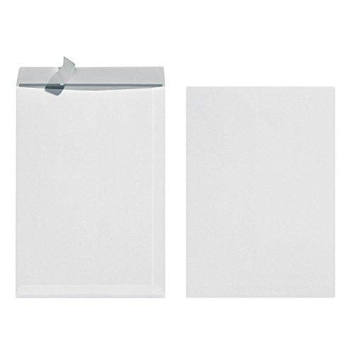 Herlitz 10837599 Versandtasche B4, mit Haftklebung, 25 Stück eingeschweißt weiß (4, weiß)