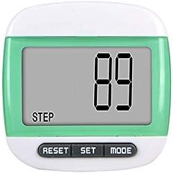 Trifycore podómetro Digital de Bolsillo LCD LCD Ejecutar Paso podómetro Walking caloría de la Distancia (Verde), Deportes y Tiempo Libre Deportes