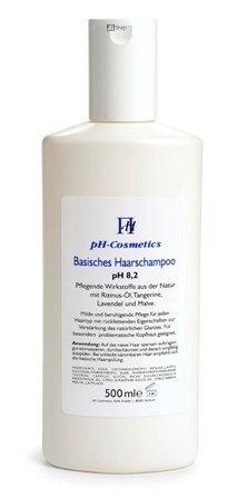 Basisches Haarshampoo pH 8, 2, schonende Pflege mit Basenshampoo, ph-Cosmetics, 500 ml