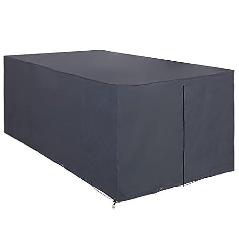Songmics Housse Bâche de Protection 240 x 140 x 90 cm oxford de 600D étanche rectangulaire pour Mobilier de Jardin