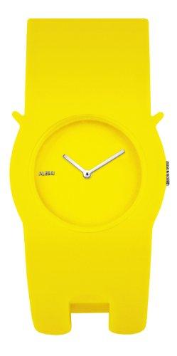 Alessi - AL24003 - Montre Mixte - Quartz - Analogique - Bracelet Divers matériaux jaune