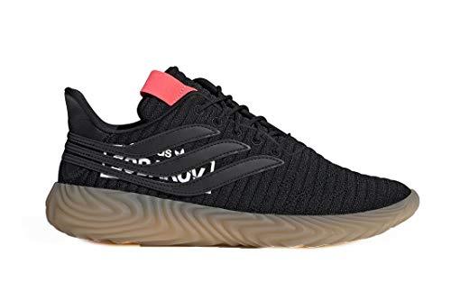adidas Sobakov, Zapatillas de Deporte para Hombre, Negro Negbás/Rojdes 000, 40 EU