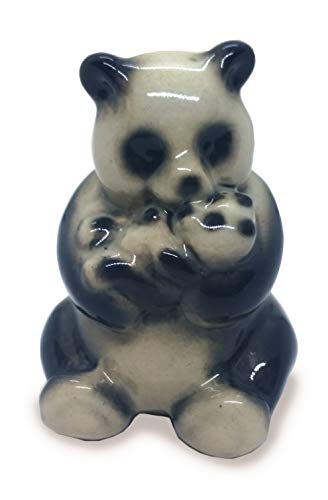 WitnyStore Chinesisches Maskottchen mit Panda-Motiv, Keramik, Miniatur, süßes Souvenir, Deko, Geschenk