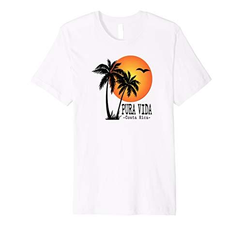 Palm Costa Rica (Pura Vida Costa Rica Souvenirs T-Shirt Palmen Beach Sun)