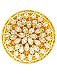 Anuradha Art Gold Finish Styled With Studded American Diamonds Stone Designer Finger Ring For Women/Girls