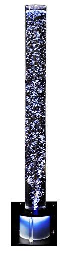 Colonne d'eau/sprudelsäule ø 100 mm, hauteur : 1500 mm socle noir, détection automatique des couleurs rVB changeantes