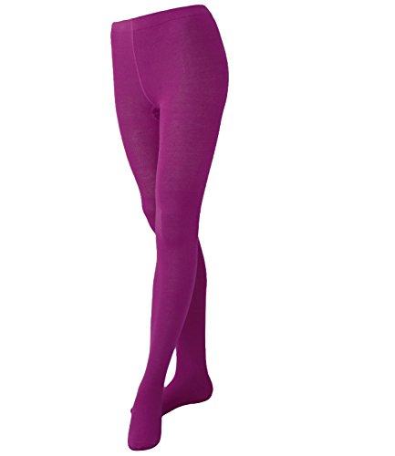 EveryKid Ewers Mädchenstrumpfhose Strumpfhose Markenstrumpfhose Kleinkind Streetwear ganzjährig einfarbig für Kinder (EW-94245-S17-MA4-290-98/104) in Pflaume, Größe 98/104 inkl Fashionguide