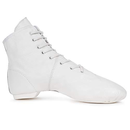 Gardestiefel Viva Dance, Turniertauglich (aus Leder, Geteilte Gummisohle), weiß, 35