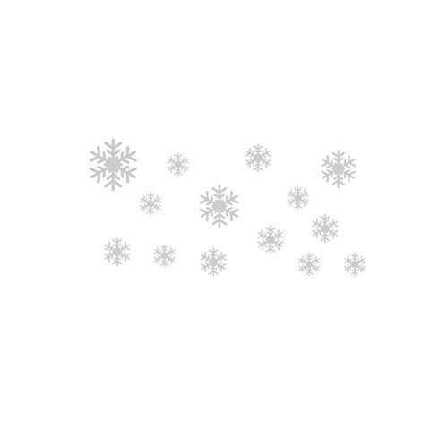 WINOMO Décoration de Noël Flocons de neige autocollants de décoration de fenêtre (Blanc)