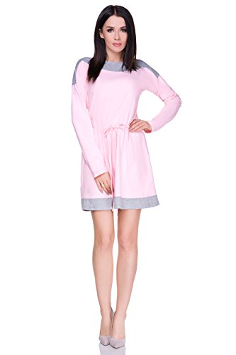 FUTURO FASHION - Robe - Colonne - Manches Longues - Femme bleu Ashen/Navy taille unique Baby Pink/Ashen