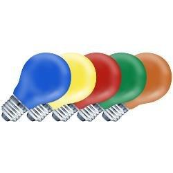 10er Pack Ersatzleuchtmittel E27 25W farbig sortiert -