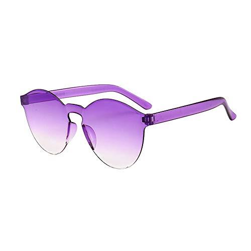 LCLrute Herren und Damen Sonnenbrillen Damen Herren Fashion Clear Retro Sonnenbrille Outdoor Rahmenlose Brillen Brillen Verspiegelt UV-Schutz