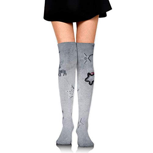 HRTSHRTE Clear Christmas Assorted Christmas Decor Lot Lying On White Panel Ankle Stockings Over The Knee Sexy Womens Sports Athletic Soccer Socks -