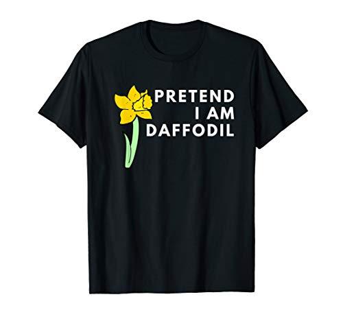 Lazy Costume Pretend I'm A Daffodil for women girl flower T-Shirt Daffodil Girl