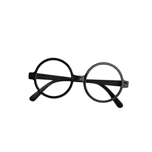 BECU Kinder Brille mit rundem Rahmen Schwarz oder Rot Harry Potter Brille Cosplay Geschenk Schwarz