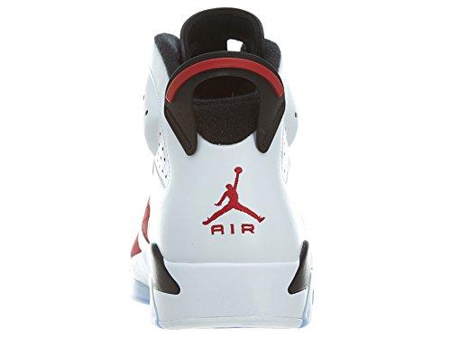 Nike - Air Jordan 6 Retro, Scarpe sportive Uomo Bianco / Rosso / Nero / (White / Carmine-Black)