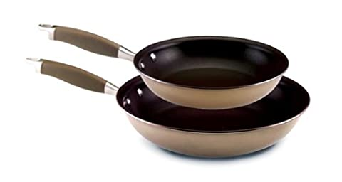 Anolon Advanced Bronze Hard Anodized Nonstick 10-Inch and 12-Inch Skillets Twin Pack
