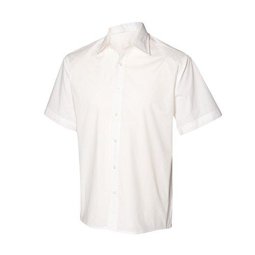 Henbury Herren Hemd / Arbeitshemd, enganliegend, kurzärmlig Marineblau