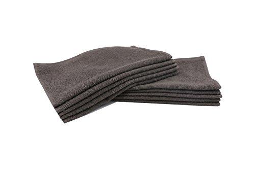 ZOLLNER® 10er Set Seiftücher / Seiflappen / Babywaschlappen 30x30 cm aus 100% Baumwolle, taupe, in weiteren Farben und Größen erhältlich, vom Hotelwäschespezialisten, Serie