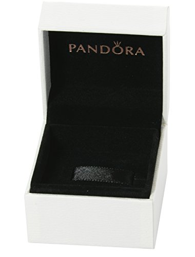 Pandora - Scatola, confezione per anelli o ciondoli Pandora, interno nero con cuscino, 5 x 5 x 4,5 cm
