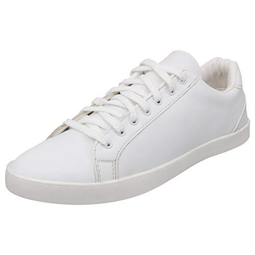 SPORTSTAR Men White & Red Synthetic Sneakers
