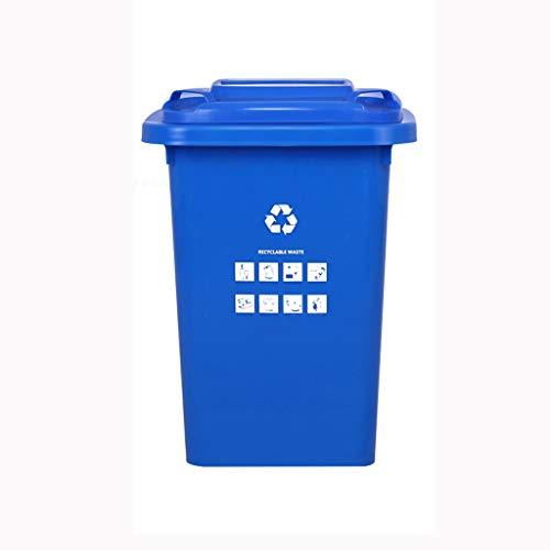 Poubelle FJZ trockener und nasser Abfall, der Abfalleimer-im Freien Hygiene-Handelsgroßkapazitäts-Schuleigentum-Industrieabfall-Behälter-Plastik mit Abdeckungs-Rad 30L / 50L / 100L / 120L / 240L sorti -