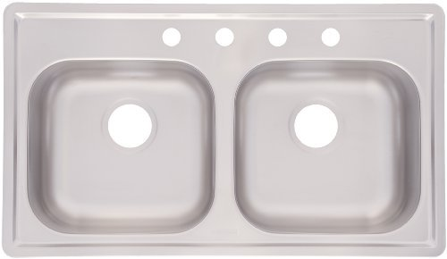 Kindred FMSB654NB Double Bowl Stainless Steel 33 x 19-Inch Top-mount Sink by FrankeUSA -