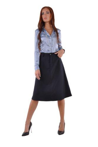 Style J Damen Rock Schickes Marineblau Blau