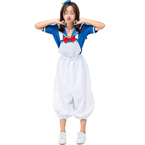 Sexy Kostüm Ente - kMOoz Halloween Kostüm,Outfit Für Halloween Fasching Karneval Halloween Cosplay Horror Kostüm,niedliche Ente Cos Matrosenanzug Navy Ente Cartoon Anime Cosplay