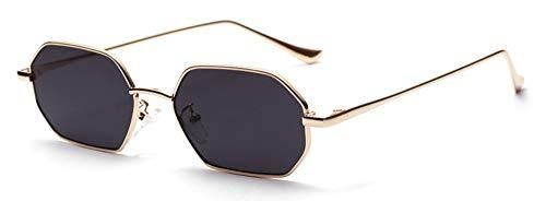 Sonnenbrille Rechteckige Sonnenbrille Polygon Frauen Gold Mit Schwarzem Metallgestell Silber Rot Brille Sonnenbrille Männliche Mode Accessoires