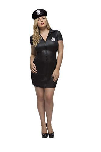 Smiffys 41003X1 - Fever Damen Polizistin Kostüm, Größe: 48-50, schwarz