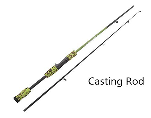 LMEI-QUN, Casting/Spinning Angelrute 3 Farben 1,8 Mt Tragbare Angelruten Eva Griff Test M Test Carbon Camouflage Lure Rod (Color : Burgundy, Size : 1.8 m)