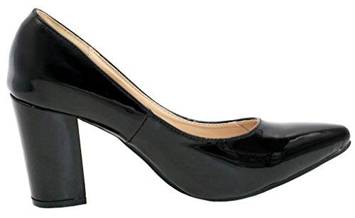 AgeeMi Shoes Femmes Sexy Chaussures Élégant Talon Bloc Haut Pointu Chaussures Noir
