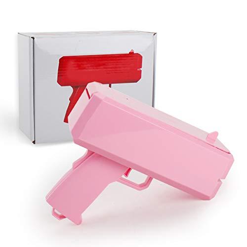 GUOJIUXIAO Schießen Geld Gun, Geldschein-Spritzpistole Spit Banknote Pistole Erwachsener Kind Decompression Spielzeug-Gewehr Geeignet Für Weihnachten Halloween-Spielzeug-Geschenk,Rosa