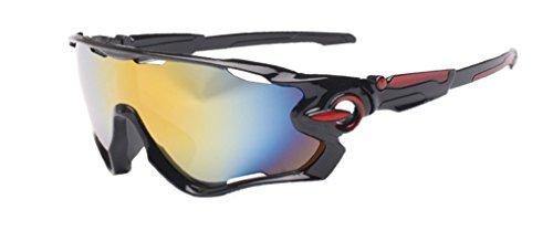 Polarisierte Radfahren Sonnenbrille Damen Herren Fahrerbrille UV400 Schutz Sportbrille fürs Radfahren Golf Laufbrille Radsportbrillen
