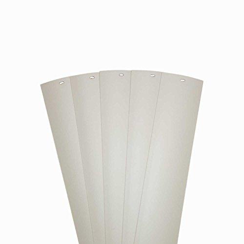 DALIX PVC Vertikale Ersatz-Lamellen Gebogene Glatte Ivory Elfenbein Weiß Creme (46.5Länge), Vinyl, elfenbeinfarben, 46.5 - Jalousie Weiss Vinyl