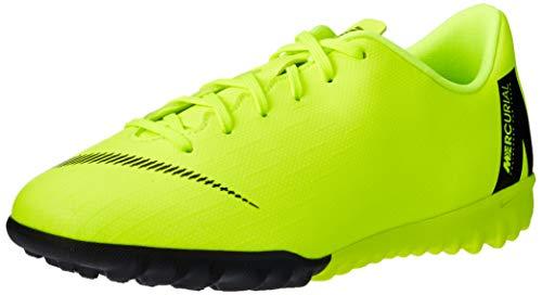 Nike Unisex-Kinder Jr. MercurialX Vapor XII Academy GS Turf Fußballschuhe Schwarz (Volt/Black 701) 37.5 EU - Nike Vapor Fußball
