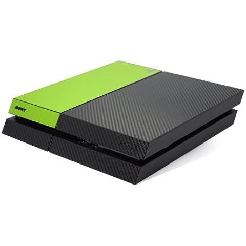 Nero in Fibra di carbonio e verde opaco due tono Accessori, Adesiva, in vinile per playstation 4PS4