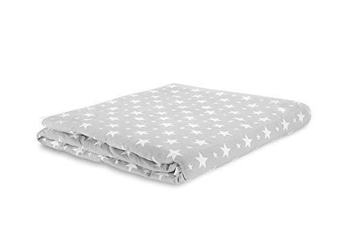 TherapieDecke - Graue Gewichtsdecke mit Weißen Sternen - Schwere Decke für Erwachsene/Jugendliche Für Besseren Schlaf, Hergestellt in Europa, Größe: 135x200 cm, 4 kg